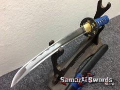 Samurai Sword Set 1060 Carbon Steel Sparkle Matt Black Saya (15)