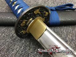 Samurai Sword Set 1060 Carbon Steel Sparkle Matt Black Saya (2)