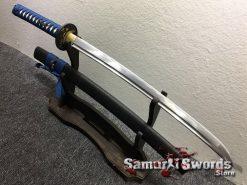 Samurai Sword Set 1060 Carbon Steel Sparkle Matt Black Saya (3)