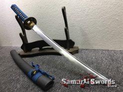 Samurai Sword Set 1060 Carbon Steel Sparkle Matt Black Saya (7)