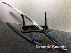 Samurai Sword Set 1060 Carbon Steel Sparkle Matt Black Saya (8)