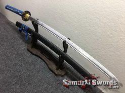 Samurai Sword Set 1060 Carbon Steel Sparkle Matt Black Saya (9)