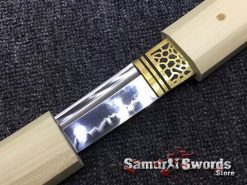 Shirasaya Sword Set Katana & Wakizashi T10 Clay Tempered Steel Hexagon Maple Wood Saya (1)