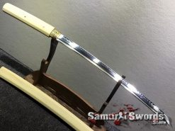 Shirasaya Sword Set Katana & Wakizashi T10 Clay Tempered Steel Hexagon Maple Wood Saya (3)