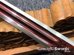 Short Jian T10 Folded Steel with Red Acid Dye (3)