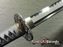 Straight Blade Ninjato T10 Clay Tempered Steel with Hadori Polish (13)