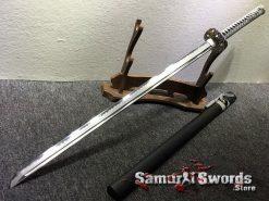 Straight Blade Ninjato T10 Clay Tempered Steel with Hadori Polish (14)