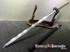 Straight Blade Ninjato T10 Clay Tempered Steel with Hadori Polish (6)