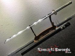 Straight Blade Ninjato T10 Clay Tempered Steel with Hadori Polish (9)