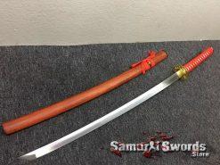 Tactical Katana 9260 Spring Steel Redwood Saya (1)