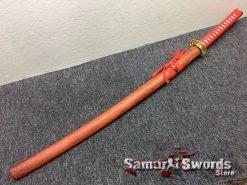 Tactical Katana 9260 Spring Steel Redwood Saya (2)