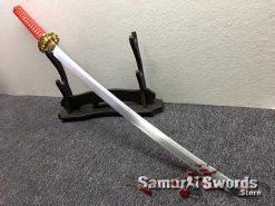 Tactical Katana 9260 Spring Steel Redwood Saya (5)