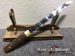 Tanto T10 Clay Tempered Steel Rosewood Saya (4)