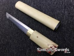 Tanto T10 Folded Clay Tempered Steel White Maple Wood Saya (1)