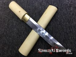 Tanto T10 Folded Clay Tempered Steel White Maple Wood Saya (3)