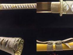 Gold Blade Katana Sword for sale