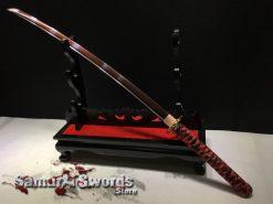 Red Blade Samurai Katana