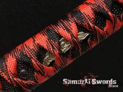 Red and Black Katana Handle