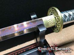 Samurai Katana Sword with Purple Blade